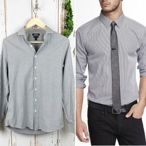 Express Men's Extra Slim Stripe Button Up Like New